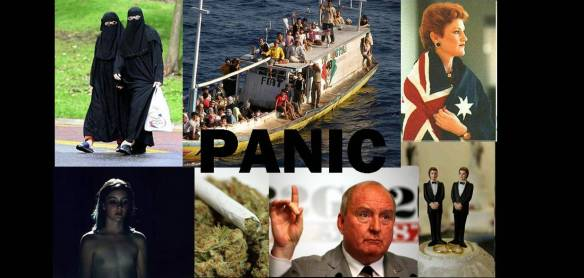 image collage: Panic